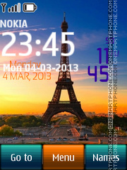 Paris Digital Clock 02 theme screenshot