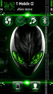 Alien Invasion Green tema screenshot