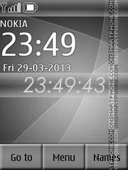 Grey Clock theme screenshot