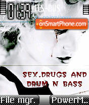 Drug Drum theme screenshot