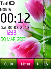 Tulip Digital Clock theme screenshot