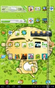 Green Cat theme screenshot