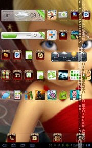 Tinkerbell Red theme screenshot