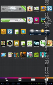 Capture d'écran Color Box 01 thème