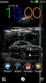 Скриншот темы Dodge Charger RT