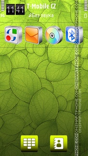 Green Wall HD theme screenshot