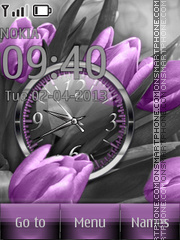 Purple Tulips theme screenshot