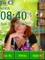 Woman and Summer theme screenshot