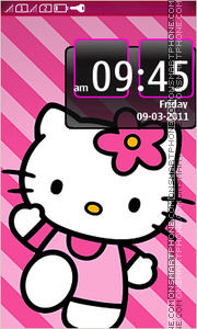 Hello Kitty 45 tema screenshot