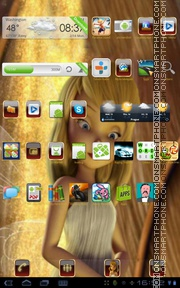 Tinkerbell 09 theme screenshot