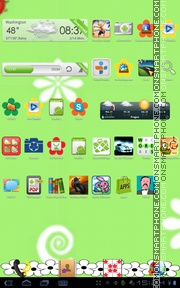 Flower Green tema screenshot