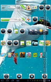 Arctic Bird theme screenshot