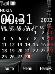 Black Calendar theme screenshot