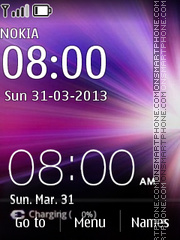 Micromax Clock theme screenshot