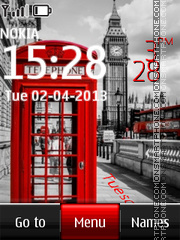Big Ben And Red Telephone Box theme screenshot