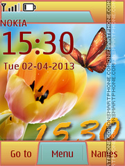 Tender Butterfly & Spring theme screenshot