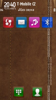 Brown Leather v2 01 es el tema de pantalla