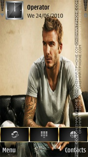 David Beckham tema screenshot