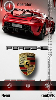Скриншот темы Porsche