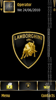 Lamborghini VREX theme screenshot