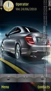 Mercedes-Benz-C theme screenshot