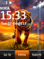 Tiger Digital Clock theme screenshot