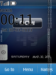 iPhone Blue Orbs tema screenshot