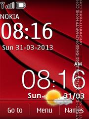 HTC One X Red theme screenshot