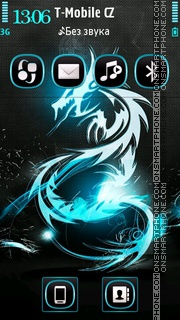 Neon Dragon 01 tema screenshot