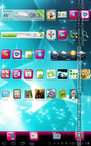 Pink Gloss theme screenshot