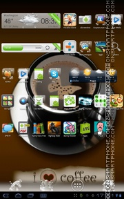 I Love Coffee 01 tema screenshot