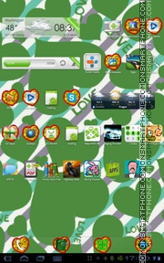 Green Hearts tema screenshot