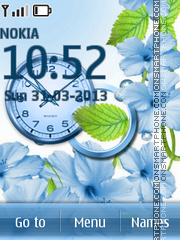 Blue Spring Flowers tema screenshot