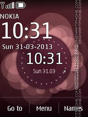 Violet Clock 01 theme screenshot