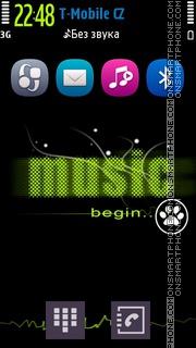 Music Belle tema screenshot