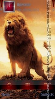 Angry Lion theme screenshot