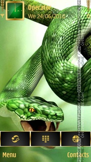 Green Snake theme screenshot
