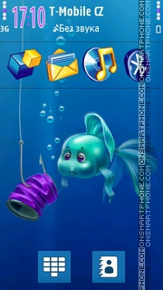Aqua Surprise 3D Icons es el tema de pantalla