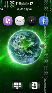 Green Galaxy HD v5 theme screenshot