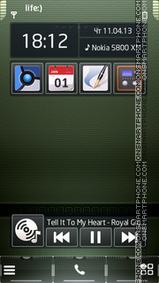Carbon tema screenshot