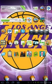 LA Lakers 01 tema screenshot