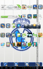 Real Madrid C.F. theme screenshot