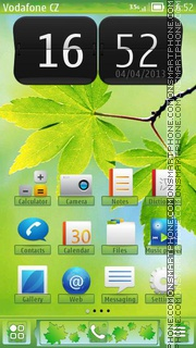 Spring Leaf theme screenshot