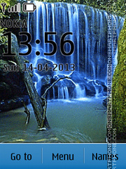 Waterfall tema screenshot