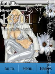 Glamorous Blonde theme screenshot