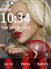 Christina Aguilera theme screenshot