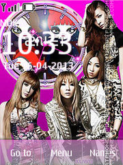 2NE1 theme screenshot