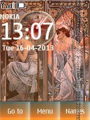 Retro (Alfons Mucha) theme screenshot