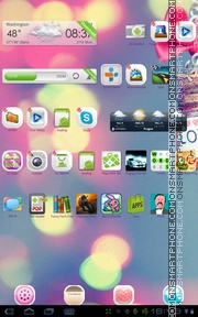 Neon Love 02 tema screenshot