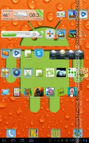 Orange Android tema screenshot